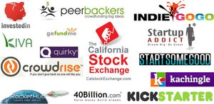 Collection-of-crowdfunding-company-logos